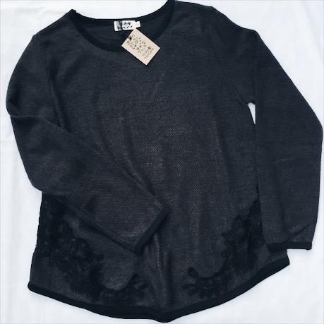 Leichtes Sweatshirt mit toller Spitzenapplikation