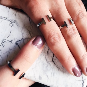Ring Double Bar Edelstahl in silber