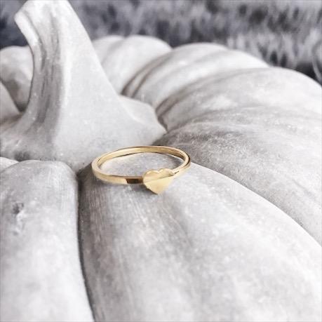 Ring mit Herz Edelstahl silber und gold