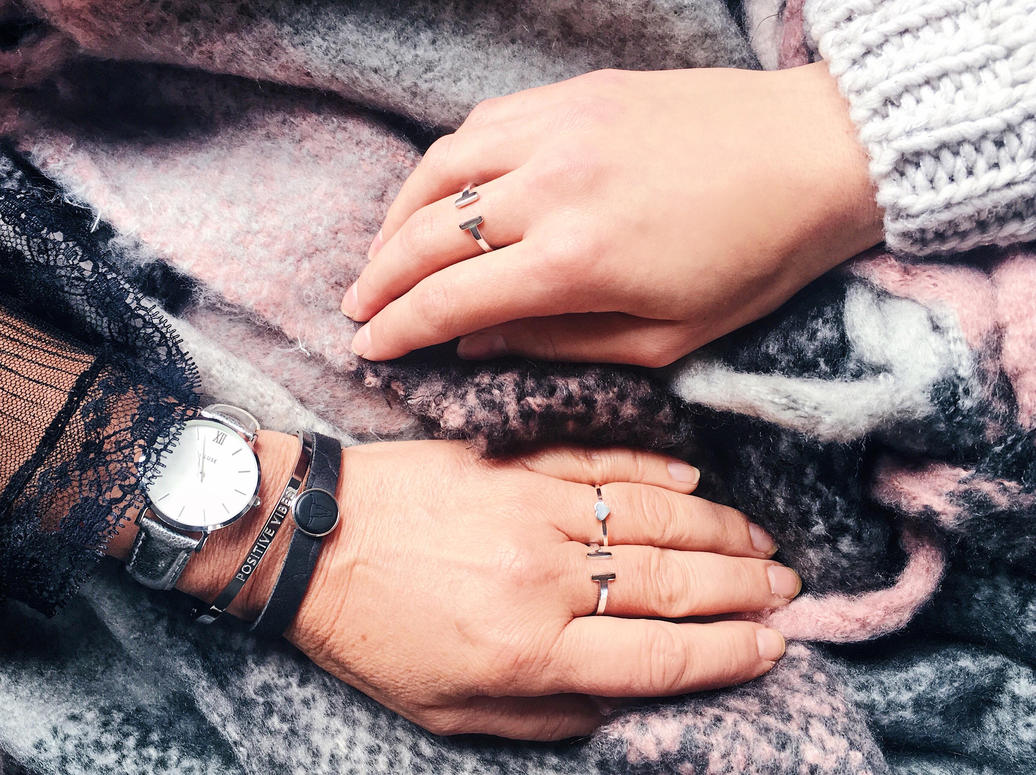 Ring mit Herz Edelstahl in silber und gold