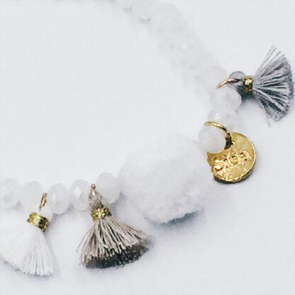 Perlen-Armband weiß im Boho-Style