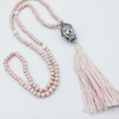 Perlenkette mit Buddha und Quaste