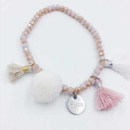 Perlen-Armband rosé im Boho-Style