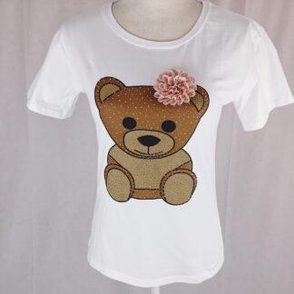 T-Shirt weiß mit Bärchenmotiv