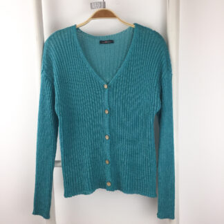 Sommerlicher Cardigan in türkis
